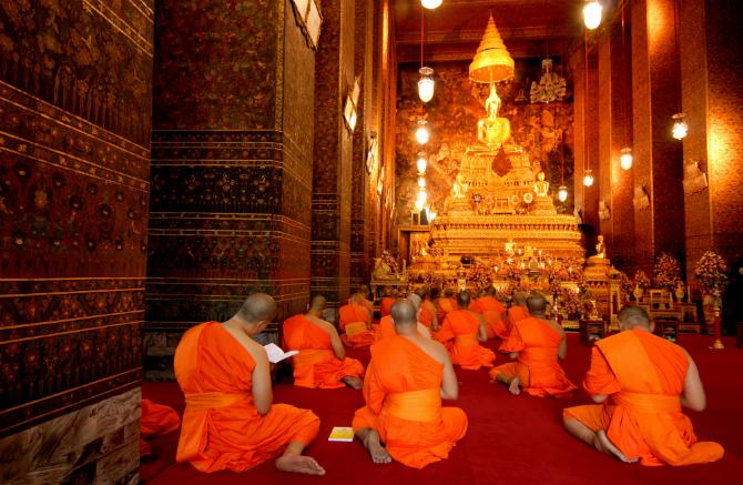 Βουδιστές μοναχοί στην Μπανγκόκ