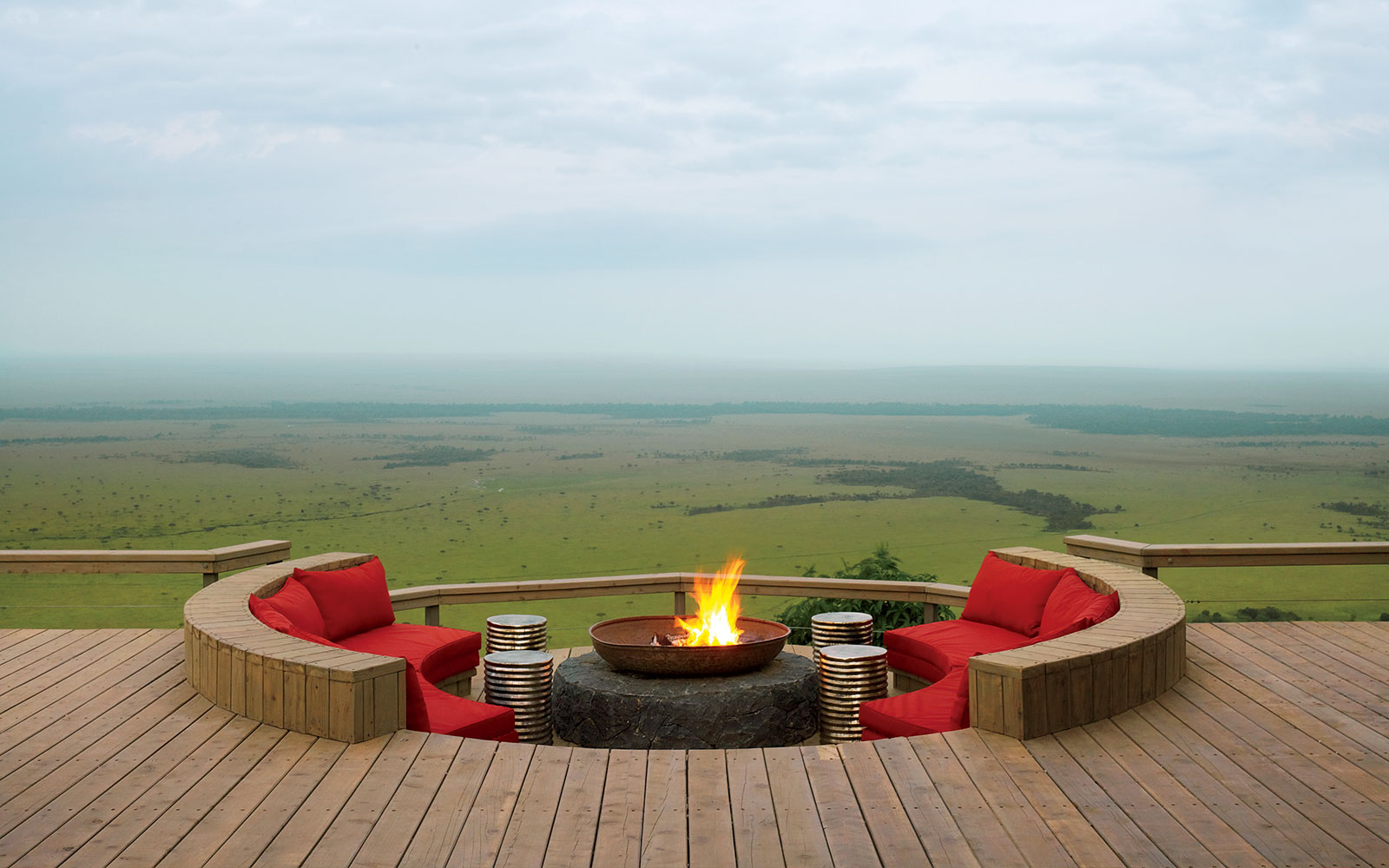 The Barazza at Angama Mara's guest area where guests can sit and enjoy the view