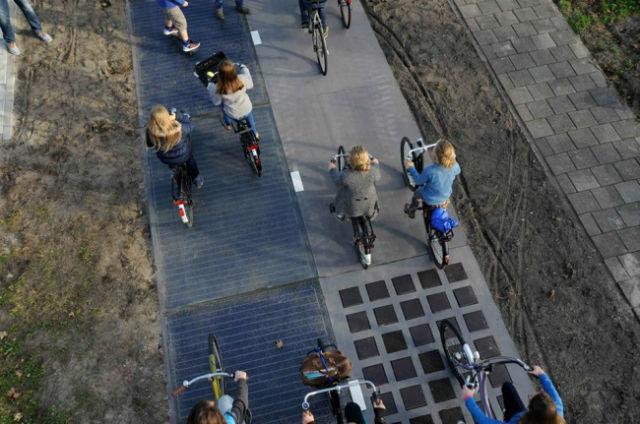 Λωρίδα ποδηλάτων με ηλιακή ενέργεια