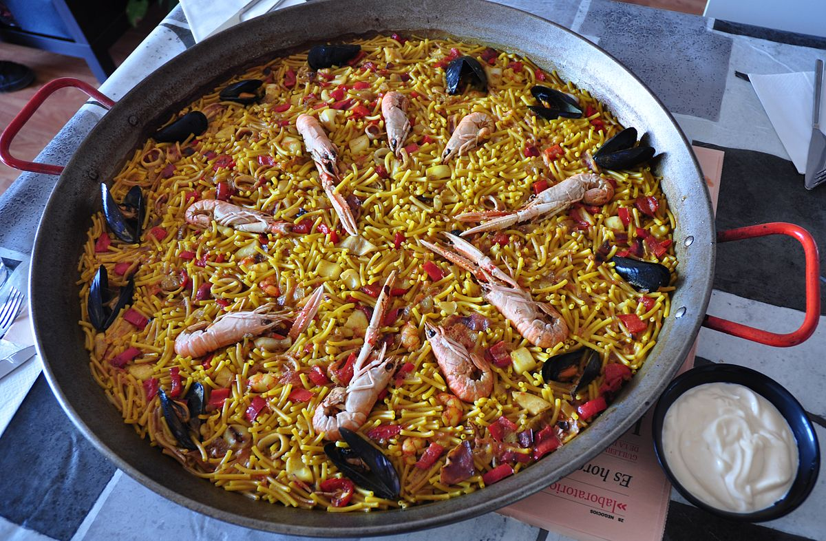 Fideua - ισπανικά φαγητά