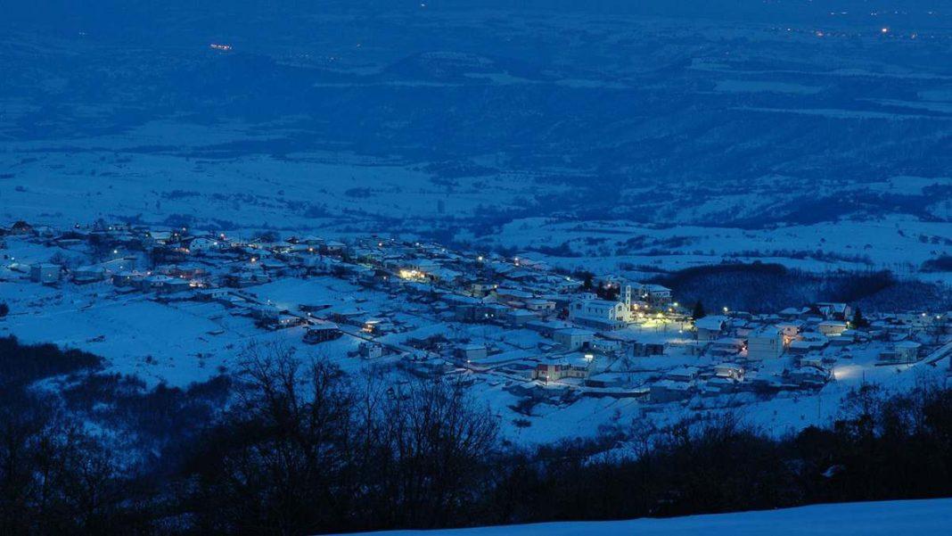 Ελατοχώρι Πιερίας στα χιόνια με υπέροχη θέα