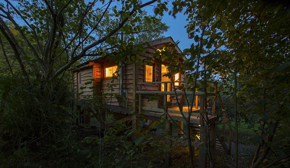 Mistletoe Treehouse, Ουαλία δεντρόσπιτο
