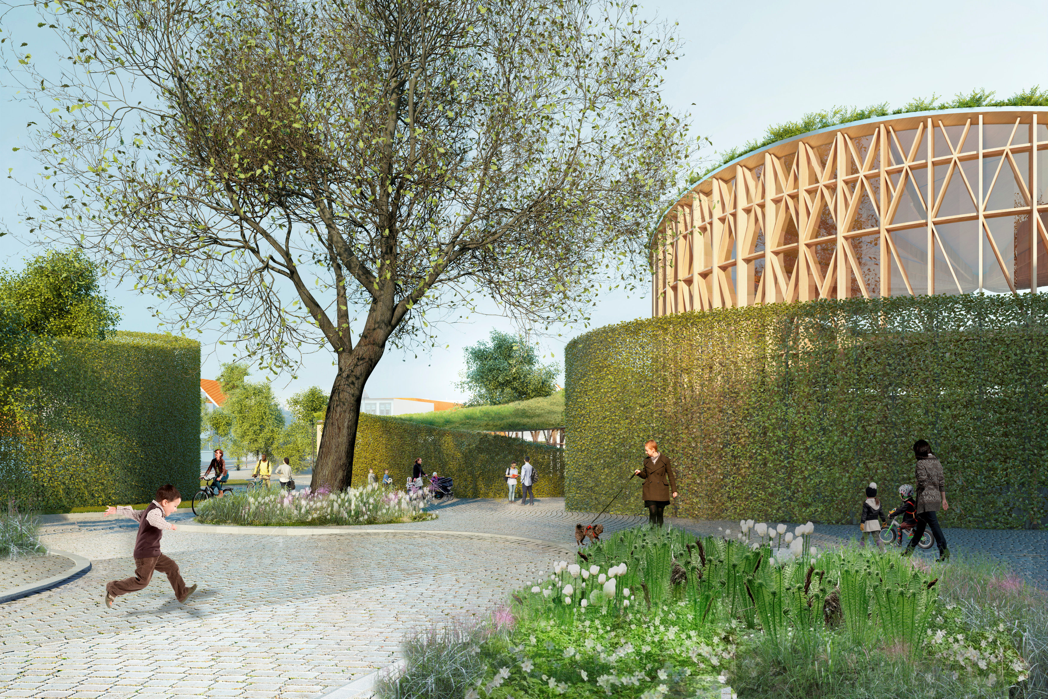 A new Hans Christian Andersen Museum in Odense is seen in an undated artist's rendering released by Odense City Museums in Odense, Denmark. Kengo Kuma & Associates, Cornelius+Voge, MASU planning/Handout via Reuters ATTENTION EDITORS - THIS IMAGE WAS PROVIDED BY A THIRD PARTY. EDITORIAL USE ONLY. NO RESALES. NO ARCHIVE. FOR EDITORIAL USE ONLY.