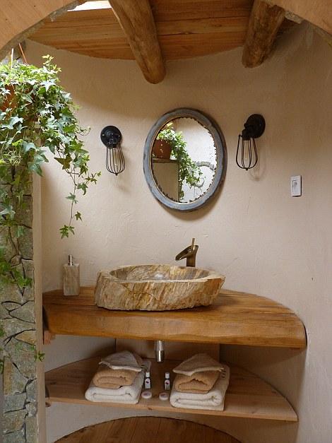 Samsaget Hobbit House εκκεντρικό κατάλυμα μπάνιο