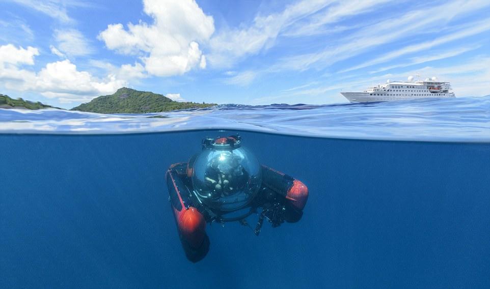 Υπάρχουν πολλά κρουαζιερόπλοια πολυτελείας...αλλά μόνο ένα έχει το δικό του μίνι-υποβρύχιο!