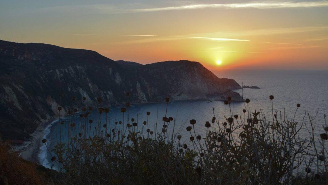 Πετανοί Κεφαλονιά ηλιοβασίλεμα