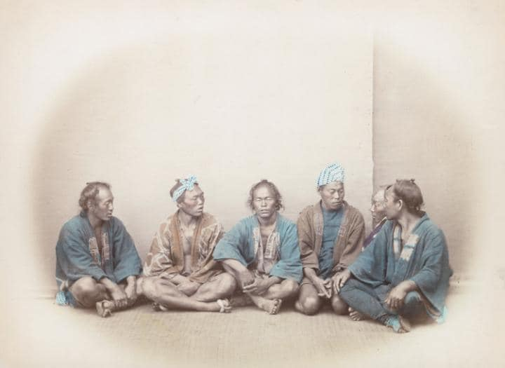 group of Japanese sitting