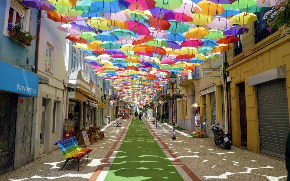 Umbrella Sky Project in Águeda