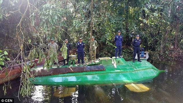 Αυτό είναι το υποβρύχιο που μετέφερε 4 τόνους κοκαΐνης!Βρέθηκε στη Κολομβία!(video)