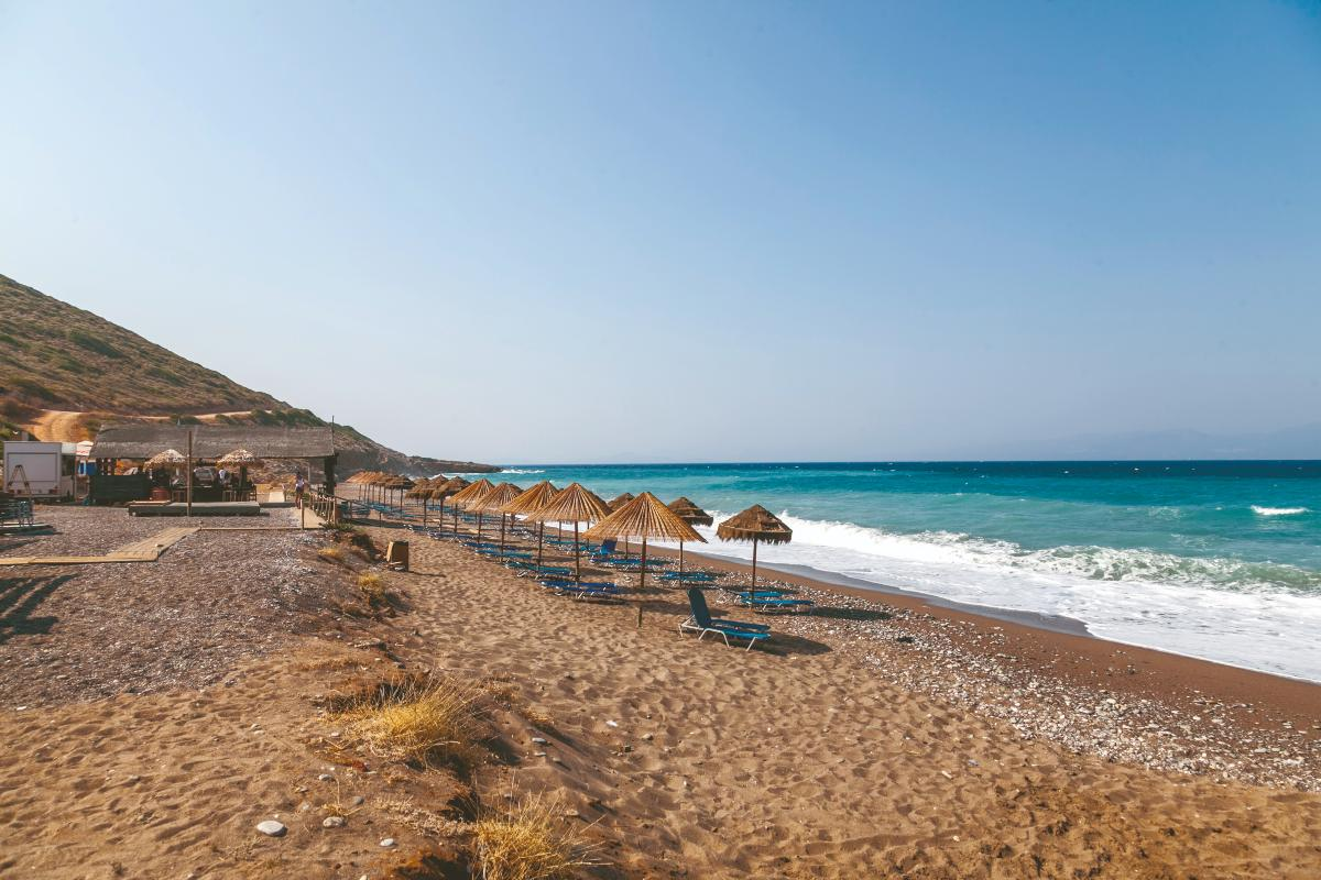 Η παραλία της Κακιάς Λαγκάδας