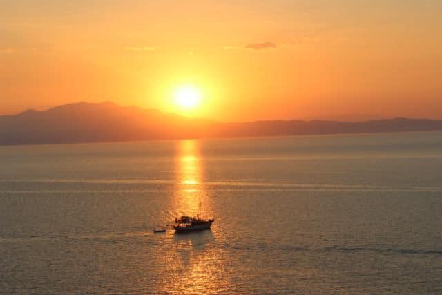 Θάσος, ηλιοβασίλεμα