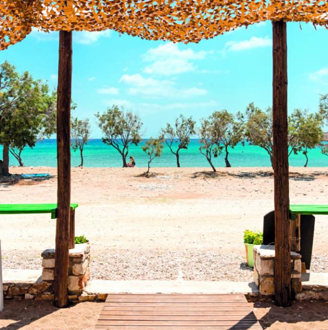 Παραλία Τρυπητή & Γλυφά, Πάρος
