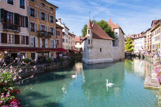 Ανεσί, Γαλλία - πόλεις με κανάλια