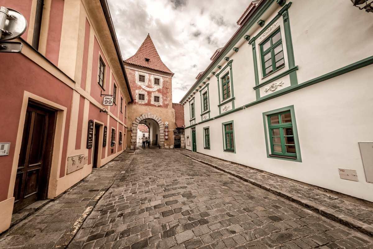 Στο κέντρο της πόλης Cesky Krumlov, Τσεχία