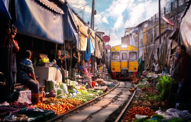 Υπαίθρια αγορά στη Μπανγκόκ, Ταϊλάνδη
