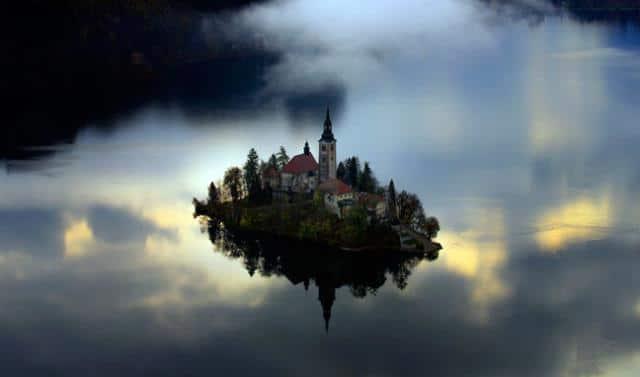 Νησί στη λίμνη Bled, Σλοβενία