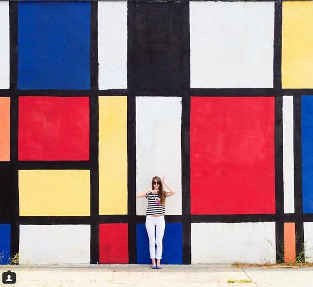Ο τοίχος Mondrian, Λος Άντζελες