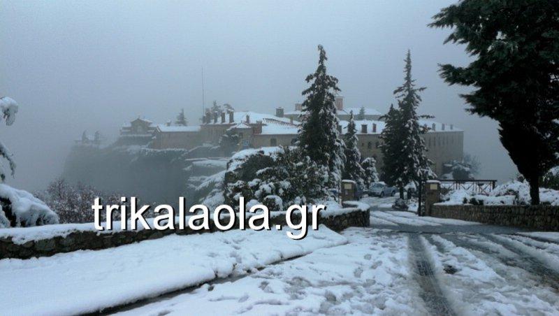 Θυμίζει σκηνικό Game of Thrones... Δείτε φωτογραφίες από το απόκοσμο αλλά ονειρικό χιονισμένο τοπία στα Μετέωρα!