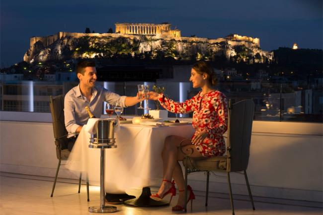 Titania Hotel - Olive Garden Restaurant Αγίου Βαλεντίνου