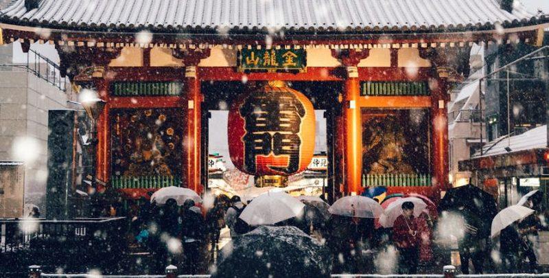 """Το Τόκιο """"ντύθηκε στα λευκά""""! Και οι εικόνες είναι πανέμορφες"""