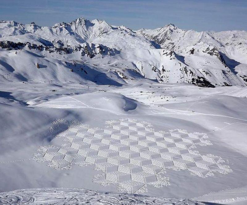 """Απίστευτο: """"Έργα τέχνης"""" πάνω στο χιόνι...Καμαρώστε τα!"""