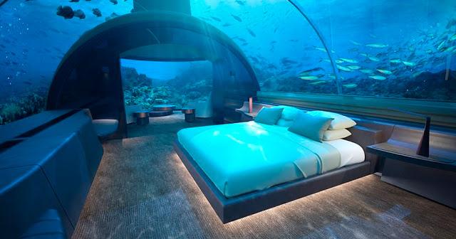 Πως θα σας φαινόταν να κοιμάστε μαζί με ψάρια; Κ' όμως... η πρώτη υποβρύχια βίλα είναι γεγονός! (photos&video)