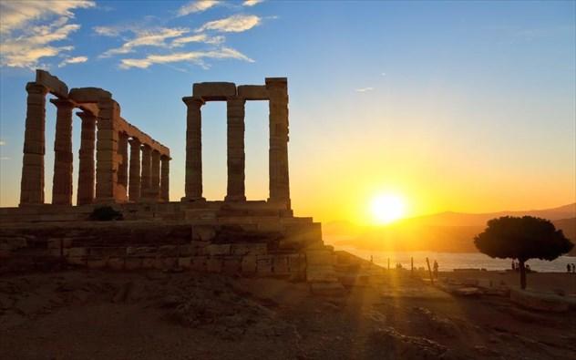 Ναος του Ποσειδωνα Ηλιοβασίλεμα
