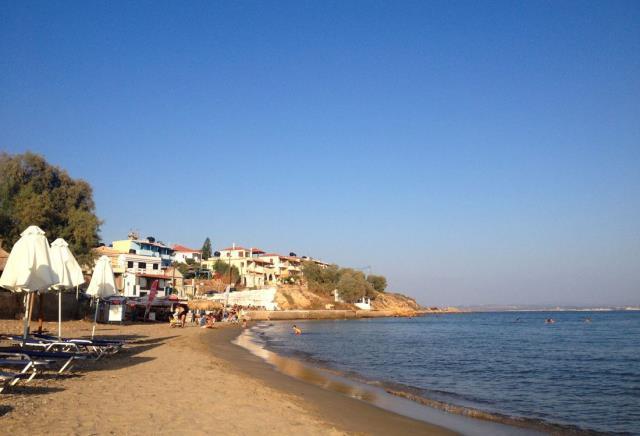 Μέγας Λιμνιώνας παραλία Χίος