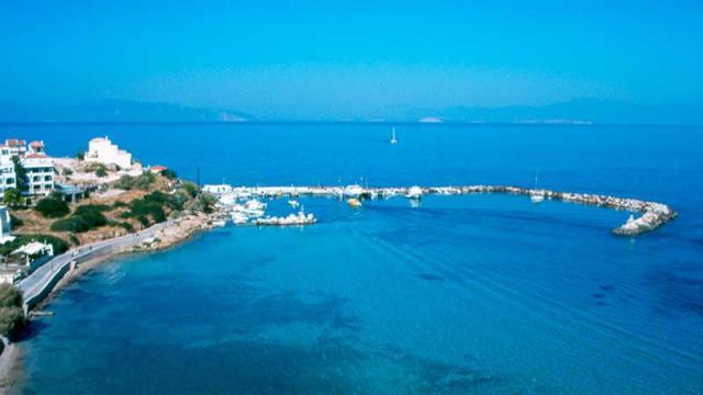 Μεγαλοχώρι - παραλία Αγκίστρι