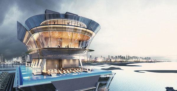 Απίστευτο! Μια πισίνα στον 50ό όροφο ενός υπερπολυτελούς ξενοδοχείου! (photos)