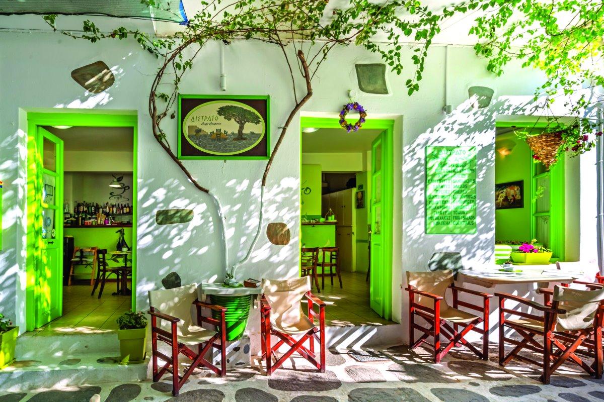Το all day cafe Δίστρατο στην Παροικιά