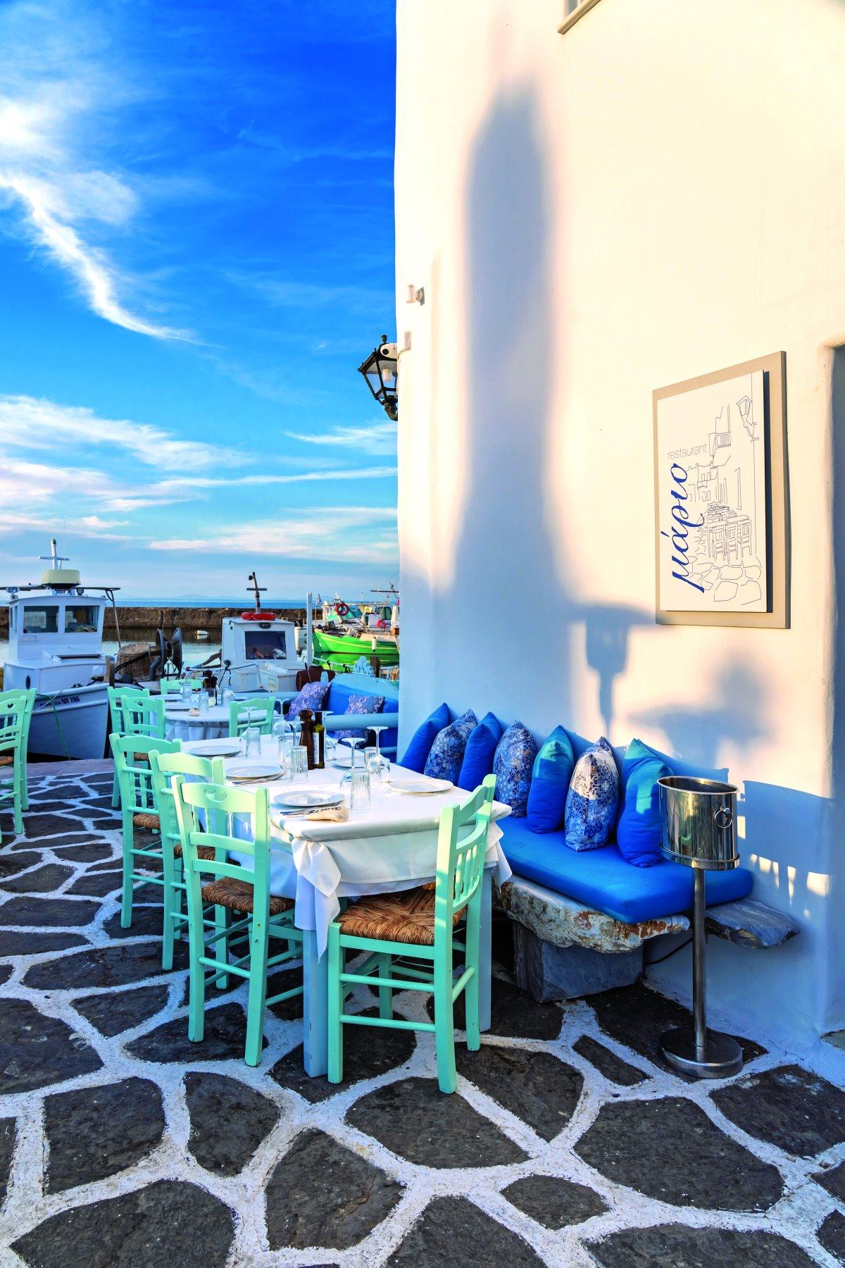 Το εστιατόριο θαλασσινών Mario, Λιμανάκι Νάουσα Πάρου
