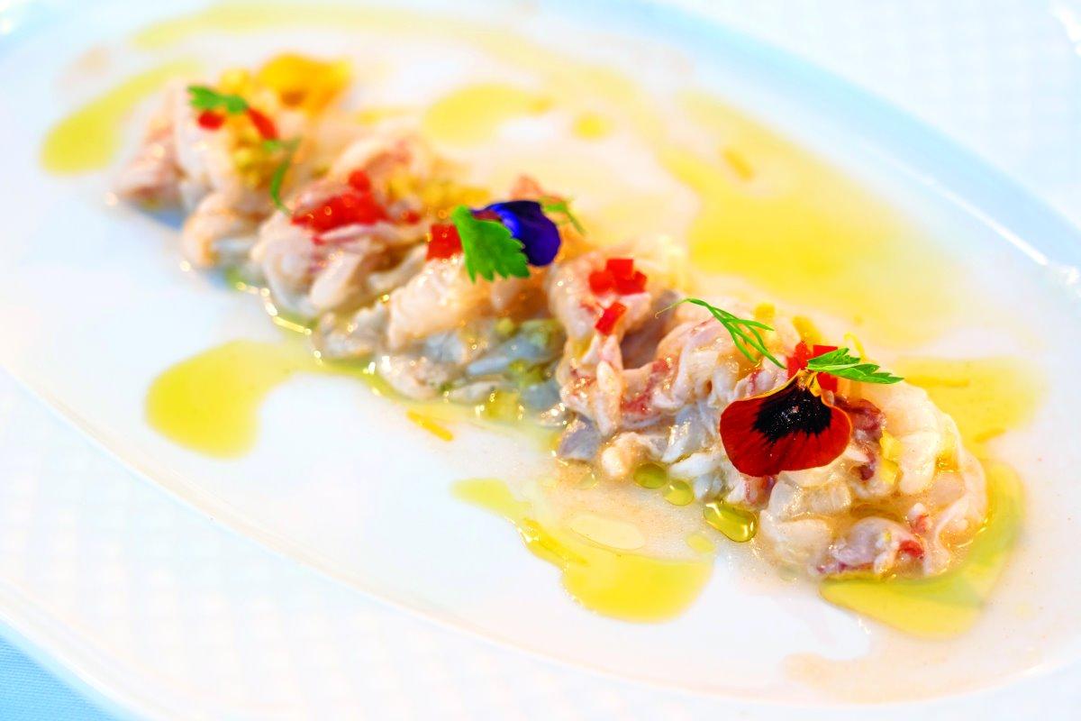 Εκλεκτό ceviche στο Mario restaurant, Λιμανάκι Νάουσα Πάρου
