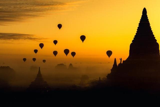Αερόστατα στη Μιανμάρ