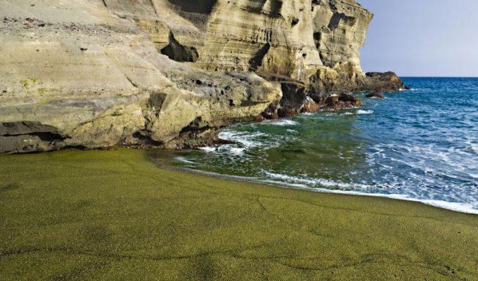 Παραλία με πράσινη άμμο, Χαβάη