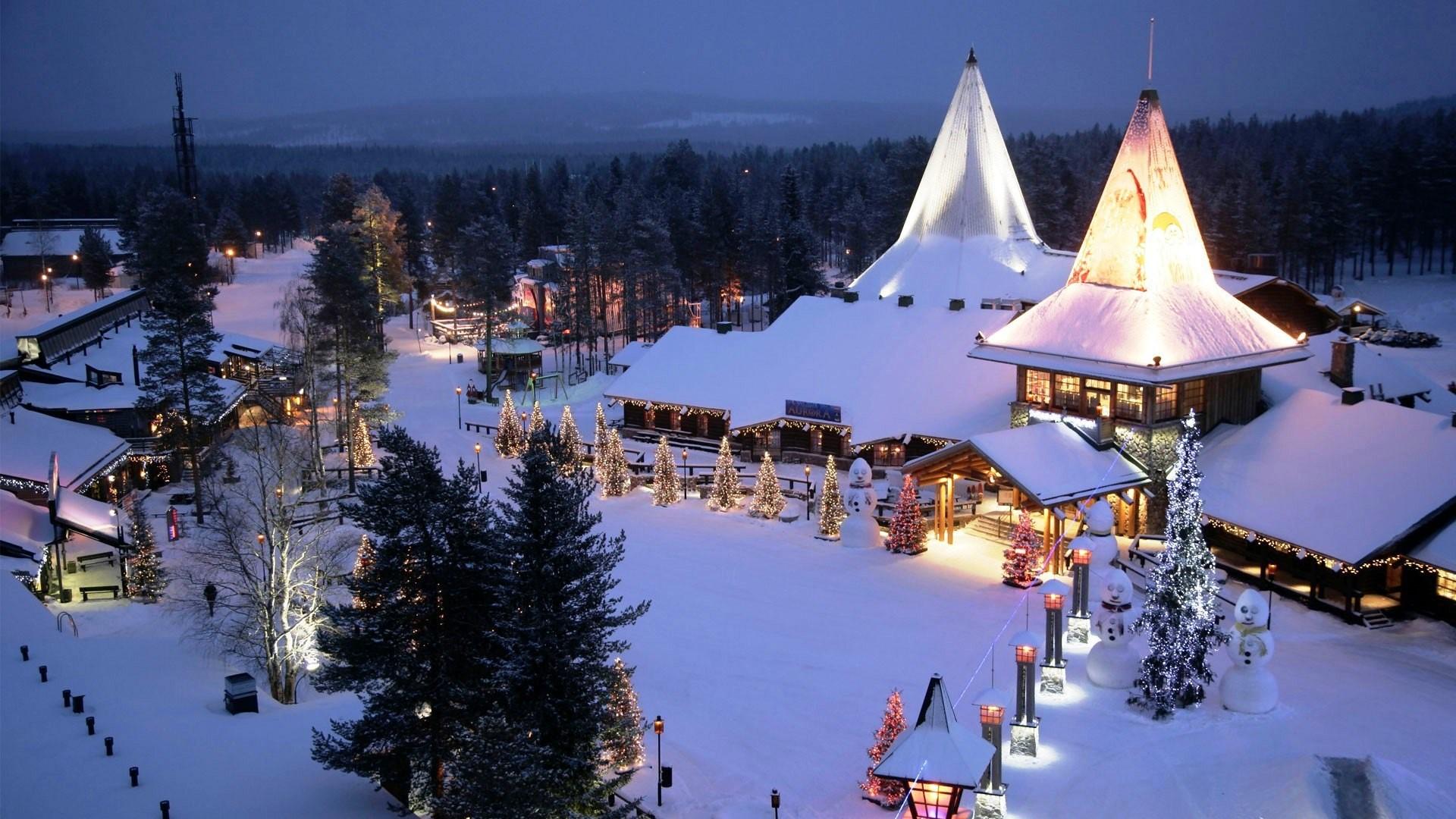 Δείτε πώς είναι το πανέμορφο χωριό του Άγιου Βασίλη στη Φιλανδία! (VIDEO)