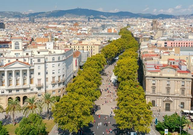 La Rambla, δρόμος Βαρκελώνης