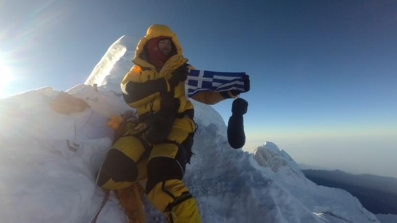 Μεγάλη συγκίνηση! Δυο Έλληνες στην κορυφή του κόσμου!