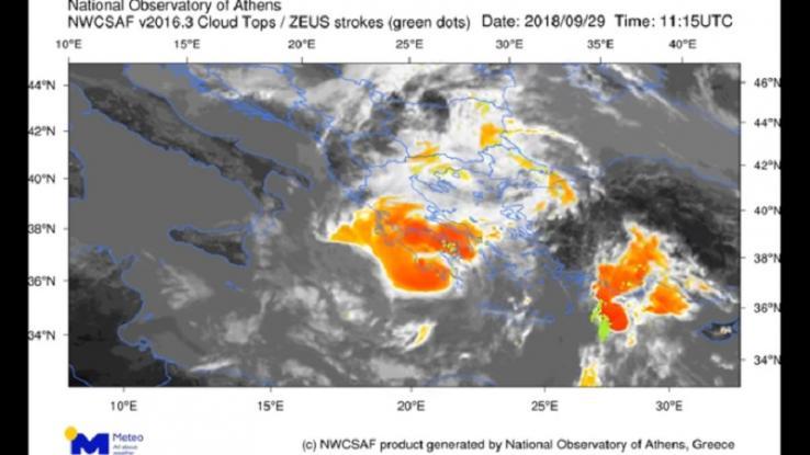 Ο κυκλώνας «Ξενοφων» από το διάστημα- Δείτε το video