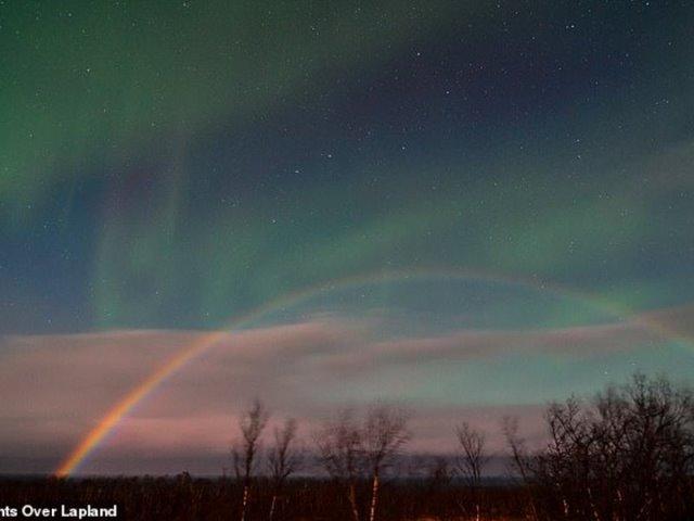 Πανέμορφο ουράνιο τόξο πάνω από τους παγωμένους καταρράκτες του Νιαγάρα! (βίντεο)