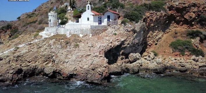 Άγιος Νικόλαος Καραθώνα: Κτισμένος με κρασί και την αλμύρα της θάλασσας