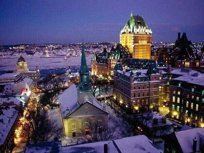 Τα Χριστούγεννα είναι παντού! Δείτε μοναδικές φωτογραφίες από το χιονισμένο Κεμπέκ!