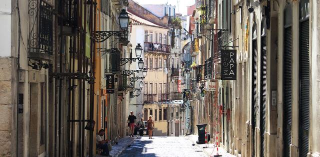 H hip γειτονιά του Bairro Alto στη Λισαβόνα