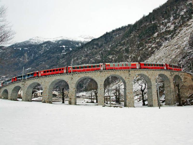 μαγικές διαδρομές με τρένο στις Ελβετικές Άλπεις!