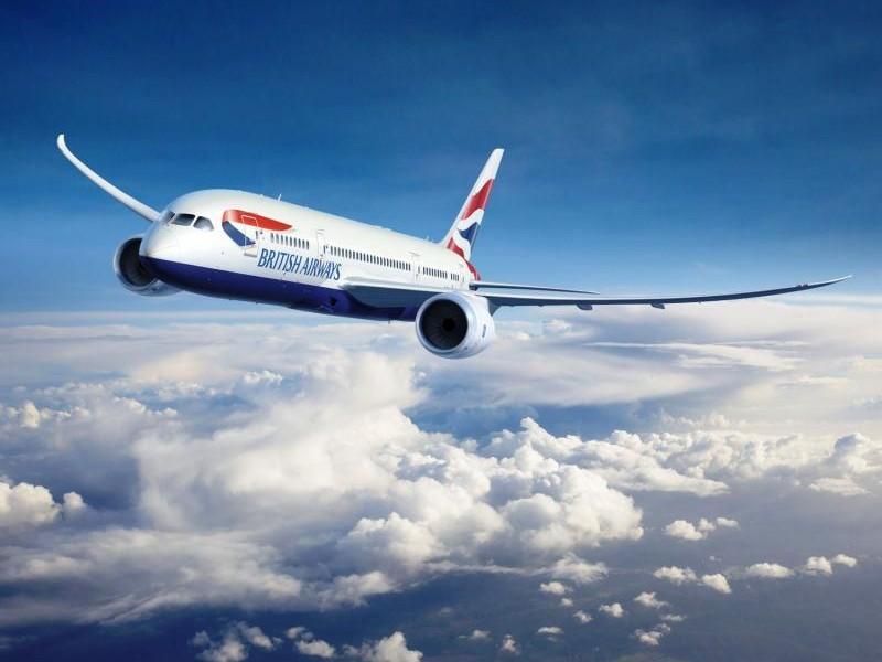 ένα αεροπλάνο british airways