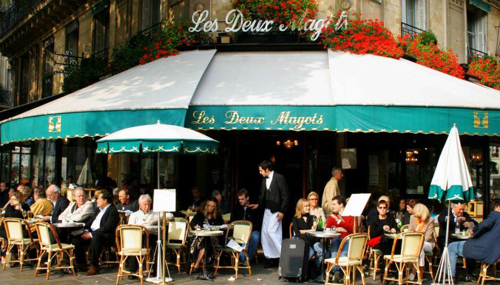 Les Deux Magots, καφέ Παρίσι