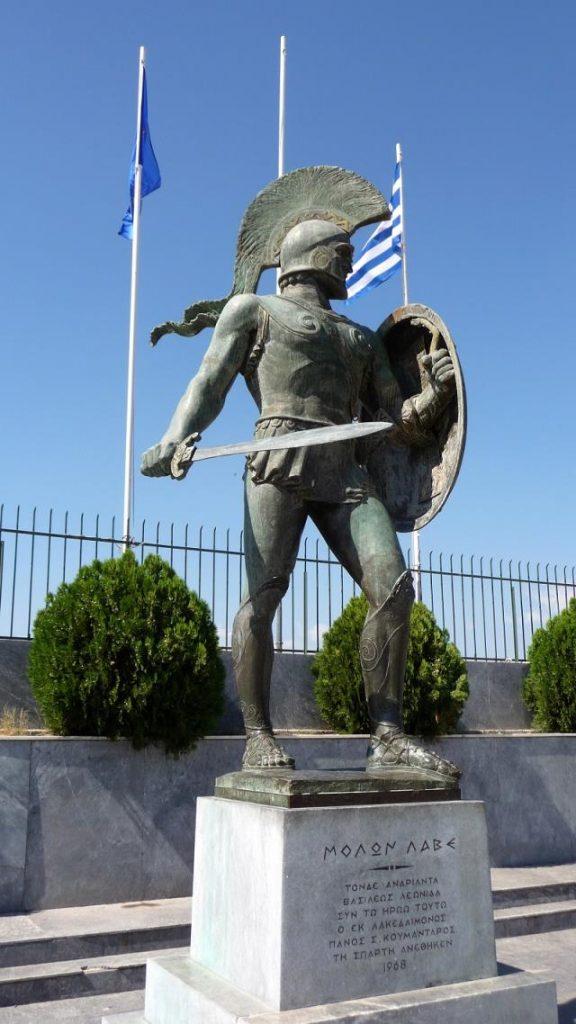 Άγαλμα Λεωνίδα, Σπάρτη