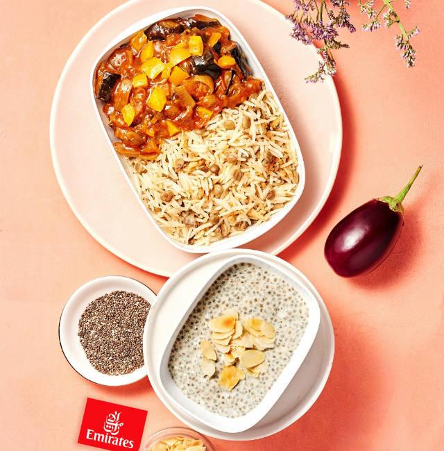 Το μενού στην Emirates αποτελείται από 7 εκλεκτά πιάτα