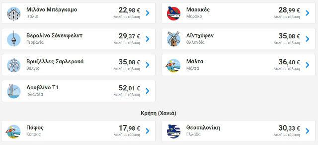 Ryanair: Εισιτήρια από 9,98€ για αυτή την εβδομάδα!