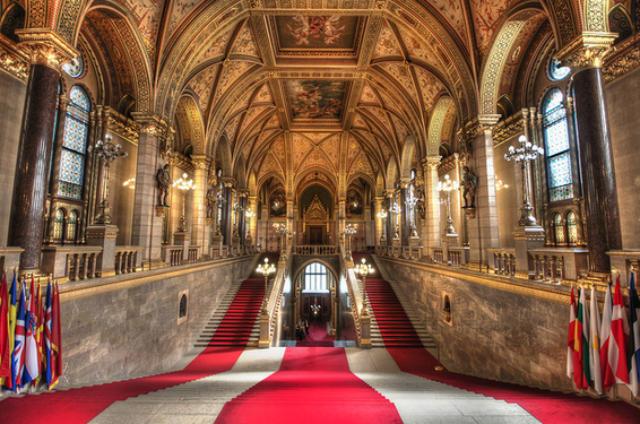 Κοινοβούλιο Βουδαπέστης εσωτερικό